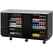 "Glass Door Back Bar Unit 69""W - 2 Door"