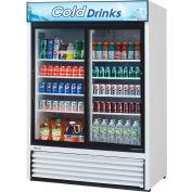 "Turbo Air TGM-48R - Merchandiser, Refrigerated, White, 2 Sliding Glass Doors, 48 Cu. Ft., 55-7/8""W"