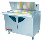 "Super Deluxe Series - Mega Top Sandwich/Salad Table 48-2/9""W - 2 Door"