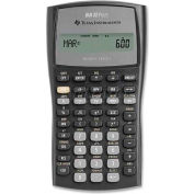 "Texas Instruments Financial Calculator, BAIIPLUS, W/Case, 9-5/8"" X 6-7/8"" X 1-1/4"", Silver"