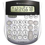 "Texas Instruments 8-Digit Calculator, TI1795SV, W/Tax Key, 4-7/8"" X 5-2/3"" X 1"", Grey"