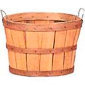 1/2 Bushel Wood Basket with Two Metal Handles 12 Pc - Natural - Pkg Qty 12
