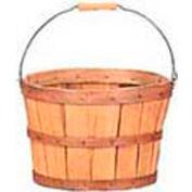 1/2 Bushel Wood Basket with Metal Handle/Wood Grip 12 Pc - Sage - Pkg Qty 12