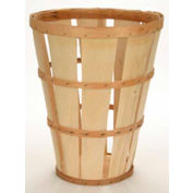 1 Bushel Hamper Wood Basket with Two Bands 6 Pc - Natural - Pkg Qty 6