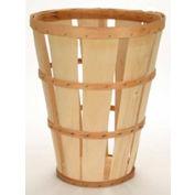 1 Bushel Hamper Wood Basket with Two Bands 6 Pc - Natural - Pkg Qty 6
