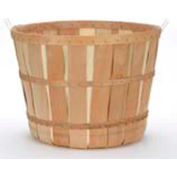 1 Bushel Wood Basket with Metal Handles & Two Bands 10 Pc - Natural - Pkg Qty 10