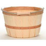 1 Peck Wood Basket with Metal Handle/Wood Grip 12 Pc - Hunter Green - Pkg Qty 12