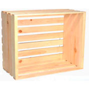 "Large Wood Crate 18-1/2""W x 14-3/4""D x 12-1/2""H 2 Pc - Flowerpot - Pkg Qty 2"