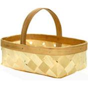 "4 Quart 11"" x 7-1/2"" Wood Basket with Wood Handle 12 Pc - Burnt Orange - Pkg Qty 12"