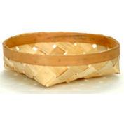 "Large Shallow Round 14"" Dia. Wood Basket 12 Pc - Natural - Pkg Qty 6"