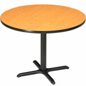 """Interion® 36"""" Round Restaurant & Lunchroom Counter Height Table, Oak"""