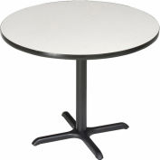 """Interion® 42"""" Round Bar Height Restaurant Table, Gray"""