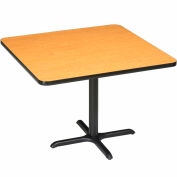 """Interion® 36"""" Square Counter Height Restaurant Table, Oak"""