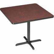 "Interion® 36"" Square Bar Height Restaurant Table, Mahogany"