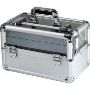 """TZ Case Beauty Makeup Case with See-Through Lid AB-116T B -14-1/2""""L x 8-1/4""""W x 9-1/4""""H - Black"""