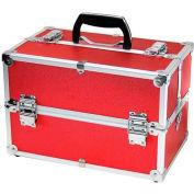"""TZ Case, Beauty Case, 14""""L x 8-1/2""""W x 9-1/4""""H, Red"""