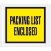 """Yellow Packing List Enclosed - Full Face 4-1/2"""" x 5-1/2"""" - 1000 Pack"""