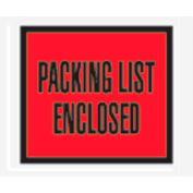 """Red Packing List Enclosed - Full Face 4-1/2"""" x 5-1/2"""" - 1000 Pack"""
