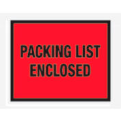 "Red Packing List Enclosed - Full Face 7"" x 5-1/2"" - 1000 Pack"