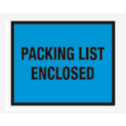"Blue Packing List Enclosed - Full Face 7"" x 5-1/2"" - 1000 Pack"