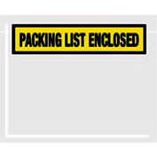 "Yellow Packing List Enclosed - Panel Face 4-1/2"" x 6"" - 1000 Pack"