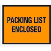 "Orange Packing List Enclosed - Full Face 7"" x 5-1/2"" - 1000 Pack"