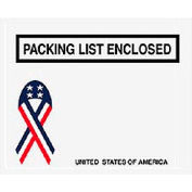 """USA w/Ribbon Packing List Enclosed - Panel Face 4-1/2"""" x 5-1/2"""" - 1000 Pack"""