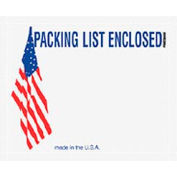 "USA w/Flag Packing List Enclosed - Panel Face 7"" x 5-1/2"" - 1000 Pack"