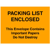 """Packing List Enclosed - Full Face 4-1/2"""" x 6"""" - 1000 Pack"""