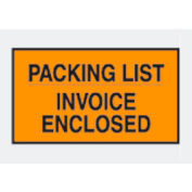 """Orange Packing List/ Enclosed Invoice - Full Face 7"""" x 10"""" - 1000 Pack"""