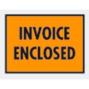 """Orange Invoice Enclosed - Full Face 7"""" x 5-1/2"""" - 1000 Pack"""