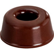 """Rubber Door Stopper and Wall Protector - Recessed - Black - 0.400"""" H x 0.880"""" W - BS17 - Pkg of 1440"""