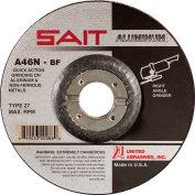 "United Abrasives - Sait 20062 Depressed Center Wheel T27 4-1/2""x 1/4"" x 7/8"" 46 Grit Alum. Oxide - Pkg Qty 25"