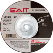 "United Abrasives - Sait 20088 Depressed Center Wheel T27 A46N 7""X 1/4""X 5/8-11"" Aluminum Oxide - Pkg Qty 10"