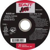 """United Abrasives - Sait 23107 Cut Off Wheel Type 1 A60S 7"""" x .045"""" x 5/8"""" 60 Grit Aluminum Oxide - Pkg Qty 50"""