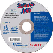"United Abrasives - Sait 23182 Cut Off Wheel Type 1 Saitech 6"" x .045"" x 7/8"" Ceramic Aluminum Oxide - Pkg Qty 50"