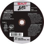 """United Abrasives - Sait 23314 Cut Off Wheel Type 1 A46N 4-1/2"""" x .045"""" x 7/8"""" 46 Grit Aluminum Oxide - Pkg Qty 50"""