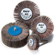 """United Abrasives - Sait 70051 2A Flap Wheel 2"""" x 1"""" x 1/4"""" 80 Grit Aluminum Oxide - Pkg Qty 10"""