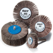 """United Abrasives - Sait 70100 2A Flap Wheel 3"""" x 1"""" x 1/4"""" 60 Grit Aluminum Oxide - Pkg Qty 10"""