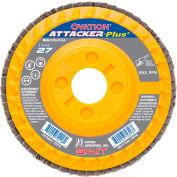 """United Abrasives - Sait 72222 Flap Disc T27 Ovation Attacker + 5-1/4""""x 7/8"""" 60 Grit Zirconium - Pkg Qty 10"""