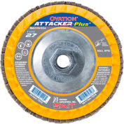 """United Abrasives - Sait 72323 Ovation Attacker Flap Disc T27 5-1/2""""x 5/8-11"""" 80 Grit Zirconium - Pkg Qty 10"""