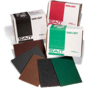 "United Abrasives - Sait 77496 Sand-Light Hand Pad 6 "" x 9"" Green Non-Woven Medium - Pkg Qty 20"
