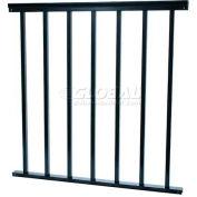 "UDECX Black Patio Decking 32"" Railing Section - RSR944"