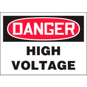 "Accuform LELC248XVE Danger High Voltage Label, 5""W x 3-1/2""H, Dura-Vinyl™, 1/Each"