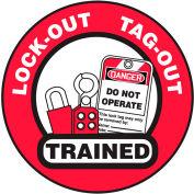Accuform LHTL344 Hard Hat Label, Lockout/Tagout Trained, Vinyl