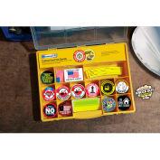Accuform LHTL410 Hard Hat Label Kit, 14 Varieties