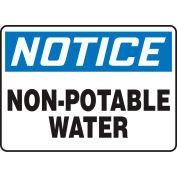 """Accuform MCAW800VA Notice Sign, Non-Potable Water, 14""""W x 10""""H, Aluminum"""