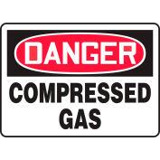 "Accuform MCPG101VS Danger Sign, Compressed Gas, 10""W x 7""H, Adhesive Vinyl"