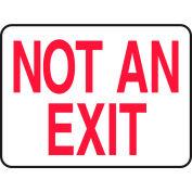 "Accuform MEXT911VA Exit Safety Sign, 14""W x 10""H, Aluminum"