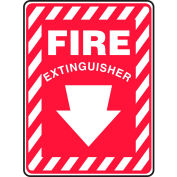 "Accuform MFXG417VS Fire Extinguisher Sign, 7""W x 10""H, Adhesive Vinyl"